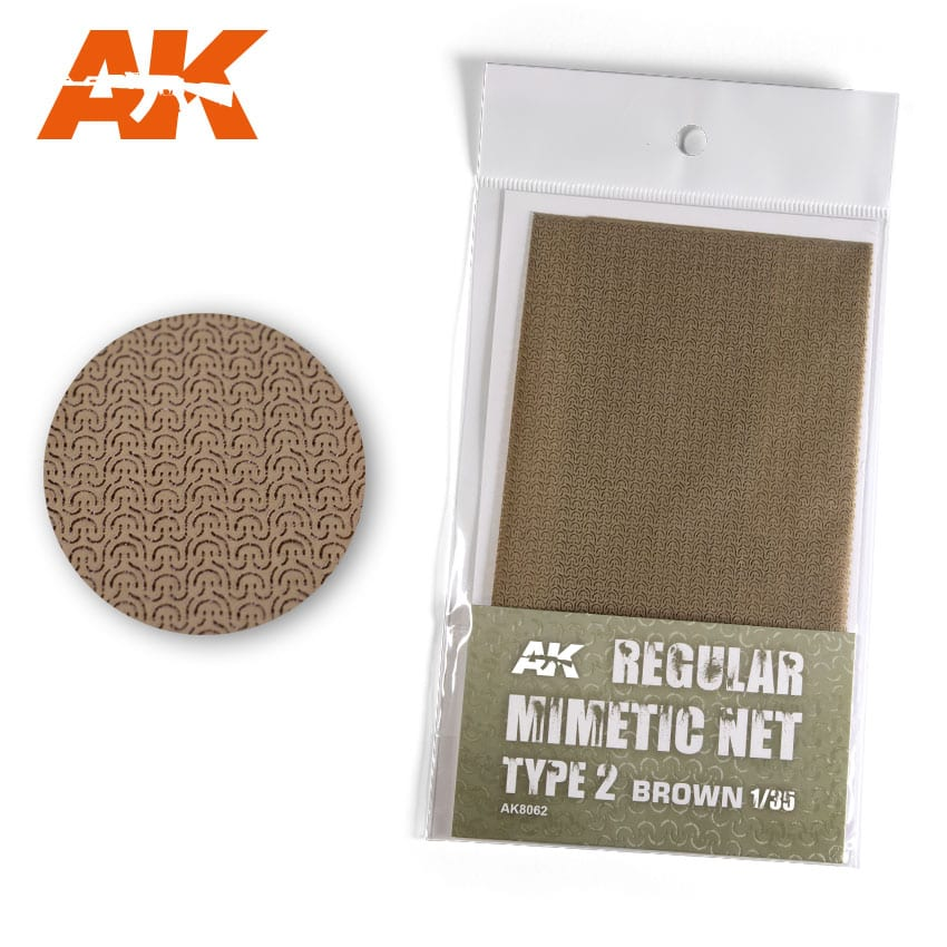 AK Interactive Regular Camouflage Net Type 2 Brown