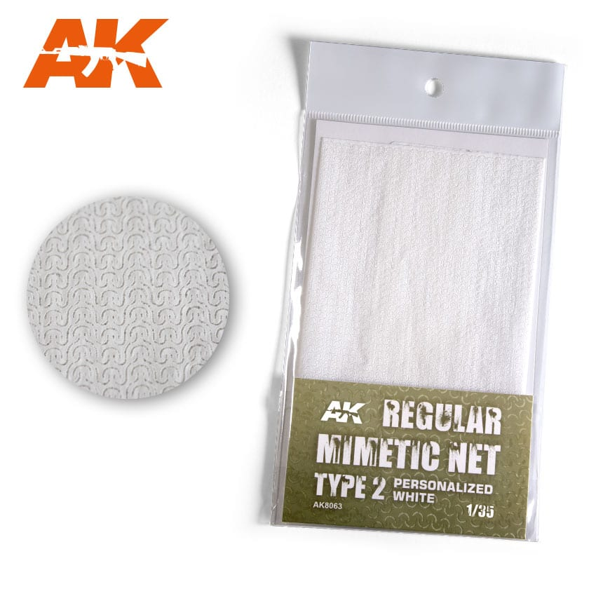 AK Interactive Regular Camouflage Net Type 2 Personalized White