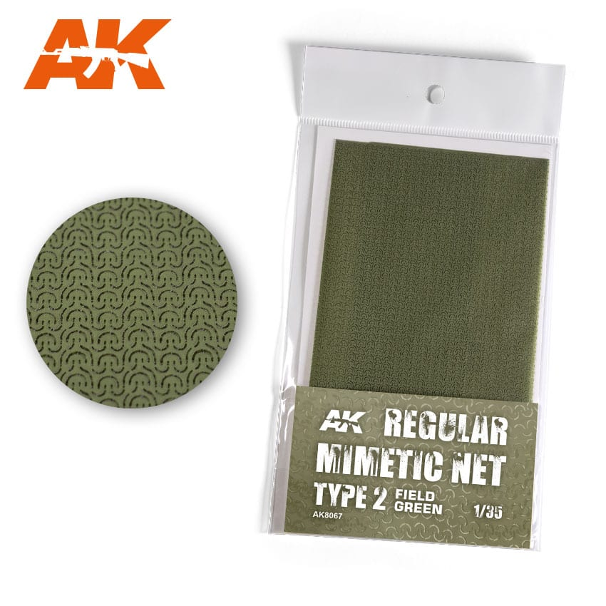 AK Interactive Regular Camouflage Net Type 2 Field Green