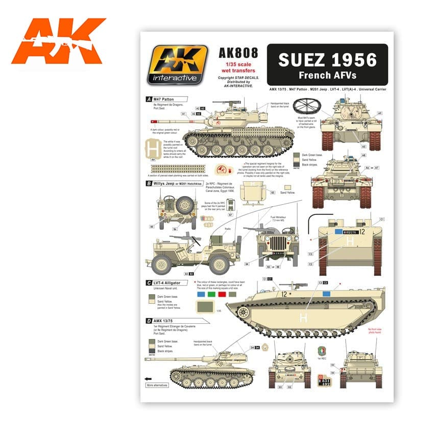 AK Interactive Suez 1956 French AFVS