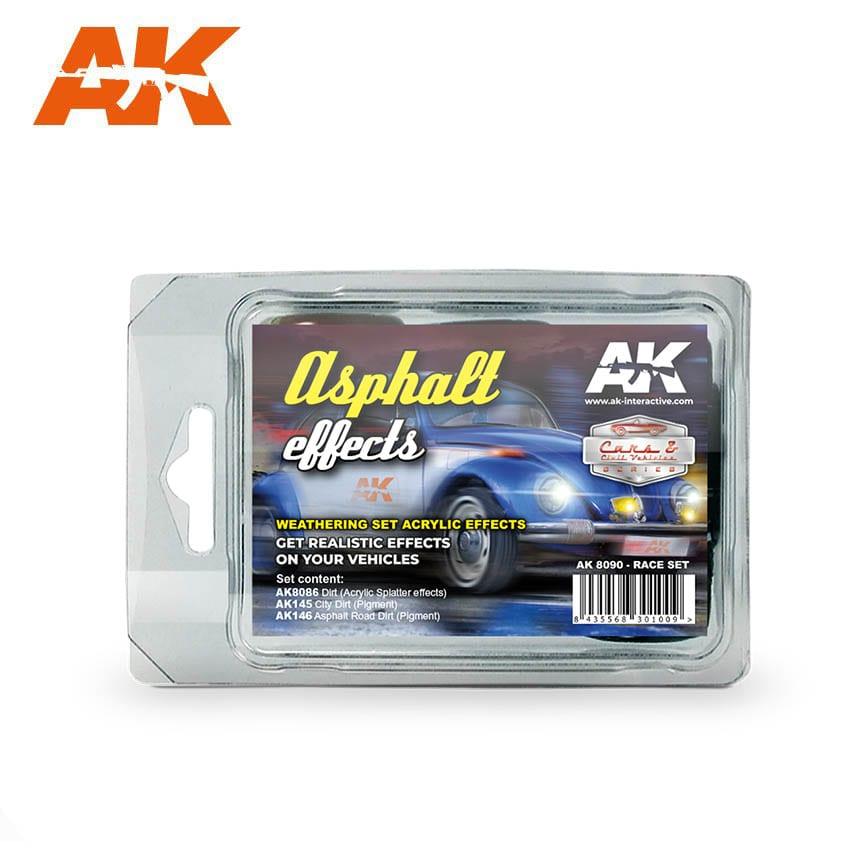 AK Interactive Asphalt Effects (Race Set)