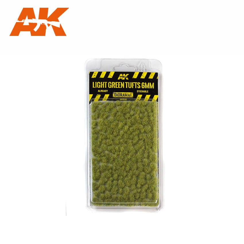 AK Interactive Light Green Tufts 6mm