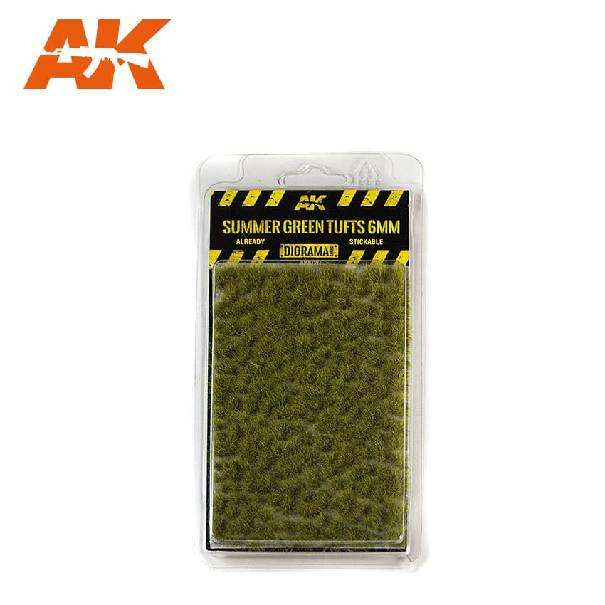 AK Interactive Summer Green Tufts 6mm