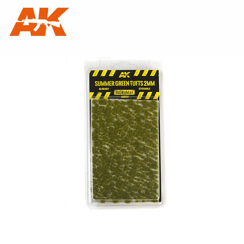 AK Interactive Summer Green Tufts 2mm