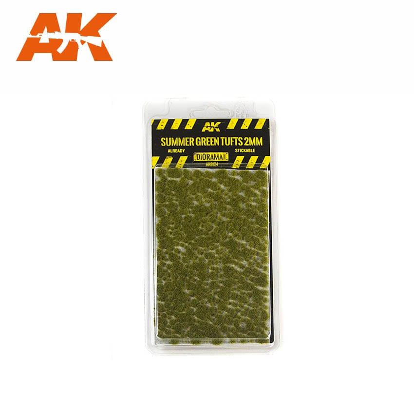 AK Interactive Summer Green Tufts 2mm
