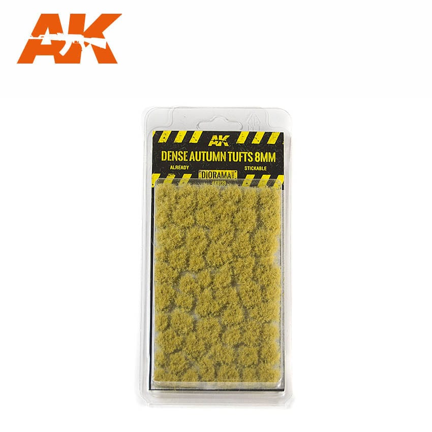 AK Interactive Dense Autumn Tufts 8mm