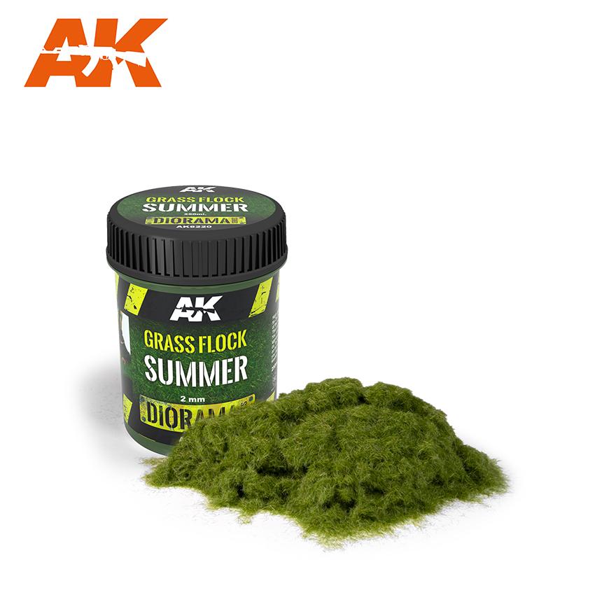 AK Interactive Grass Flock 2mm SUMMER