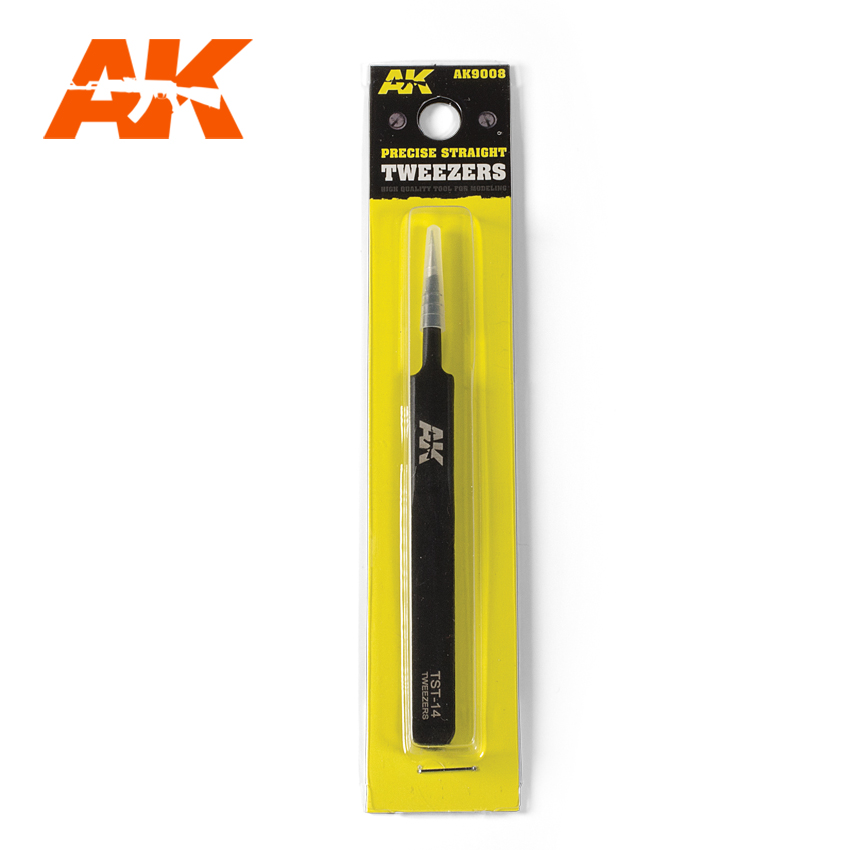 AK Interactive Precise Straight Tweezers