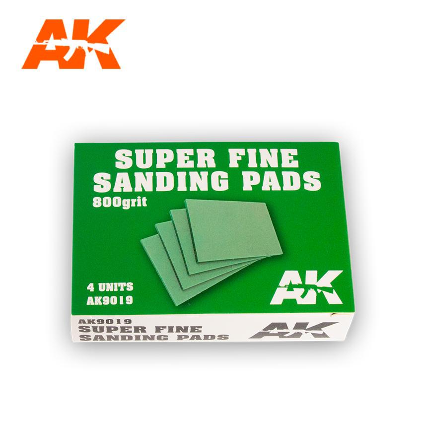 AK Interactive Super Fine Sanding Pads 800 grit. 4 units