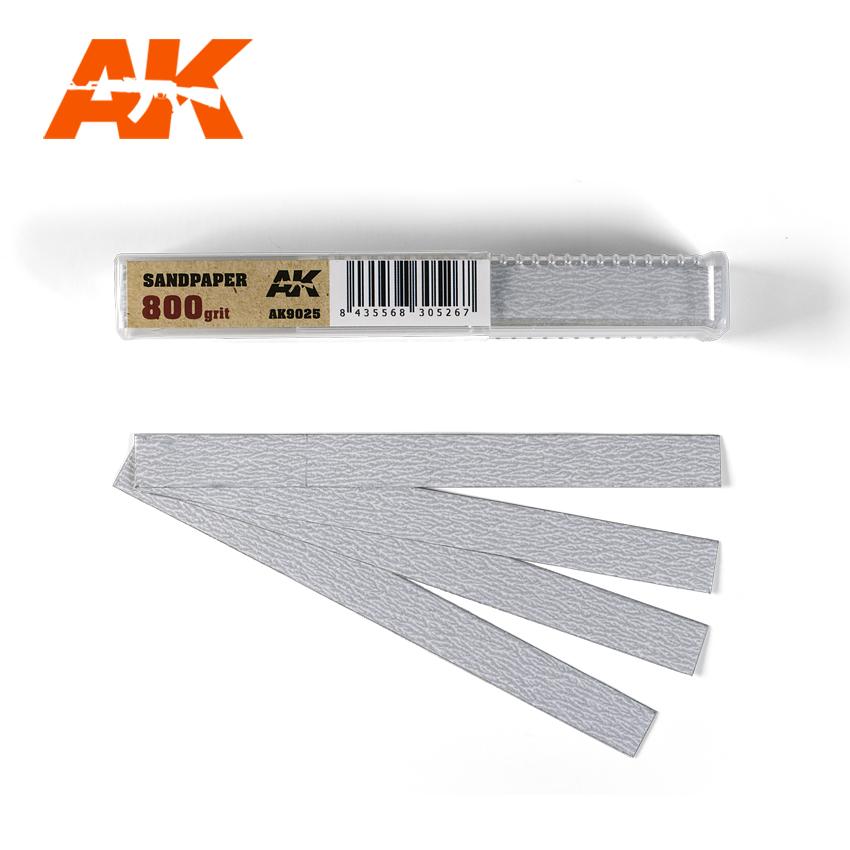 AK Interactive Dry Sandpaper 800 grit x 50 units