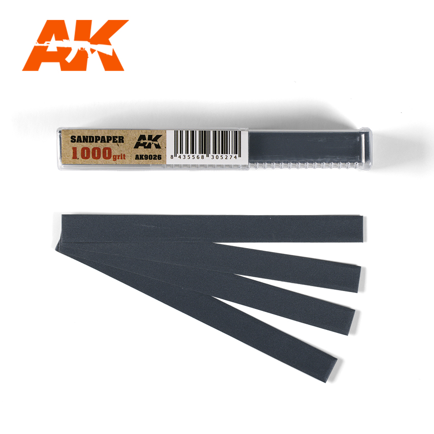 AK Interactive Wet Sandpaper 1000 grit x 50 units