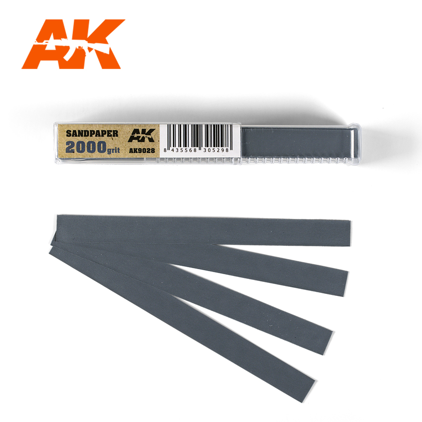 AK Interactive Wet Sandpaper 2000 grit x 50 units