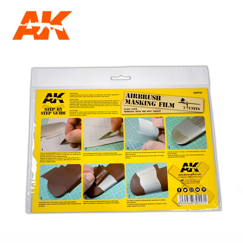 AK Interactive Airbrushing Masking Film (2 Units Size A4)