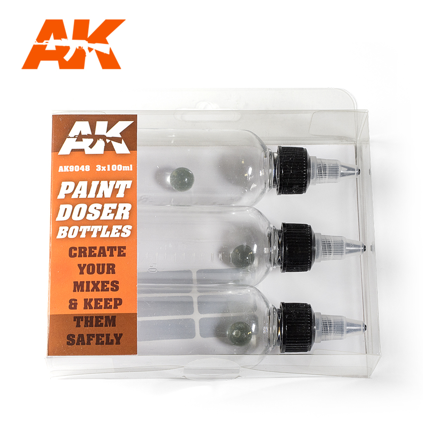 AK Interactive Paint Doser Bottles 3x100 ml