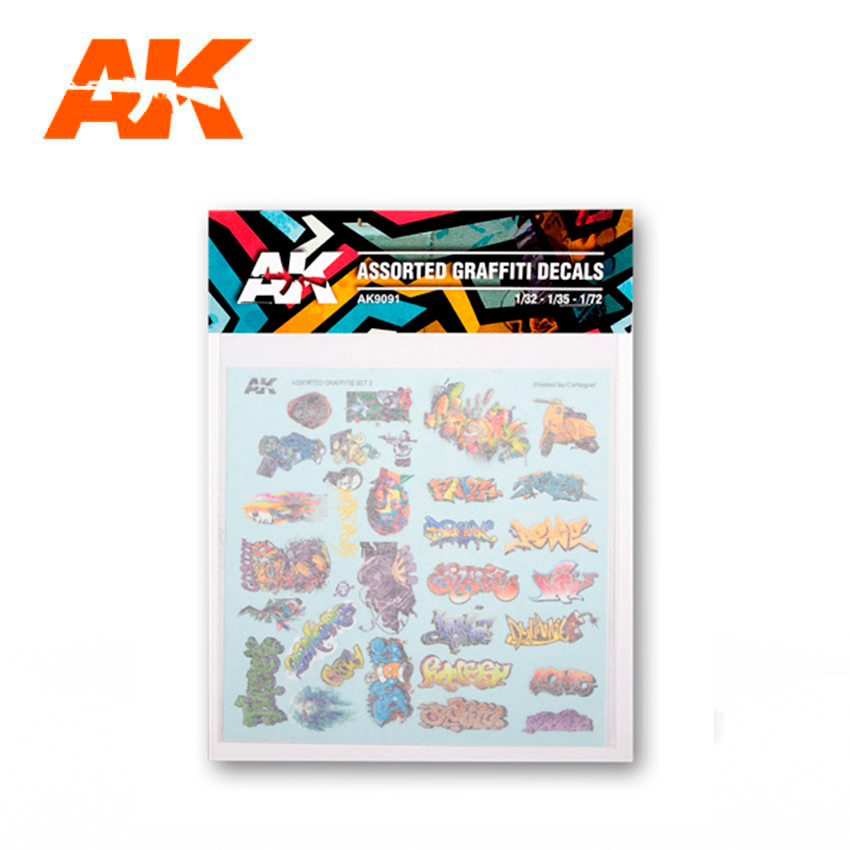 AK Interactive Assorted Graffiti Decals