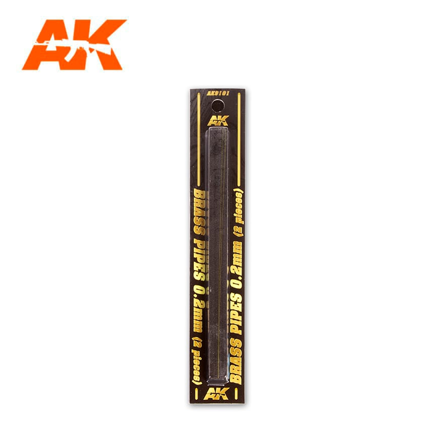 AK Interactive BRASS PIPES 0.2mm, 2 units