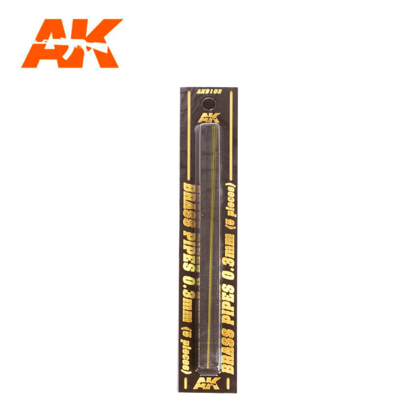 AK Interactive BRASS PIPES 0.3mm, 5 units