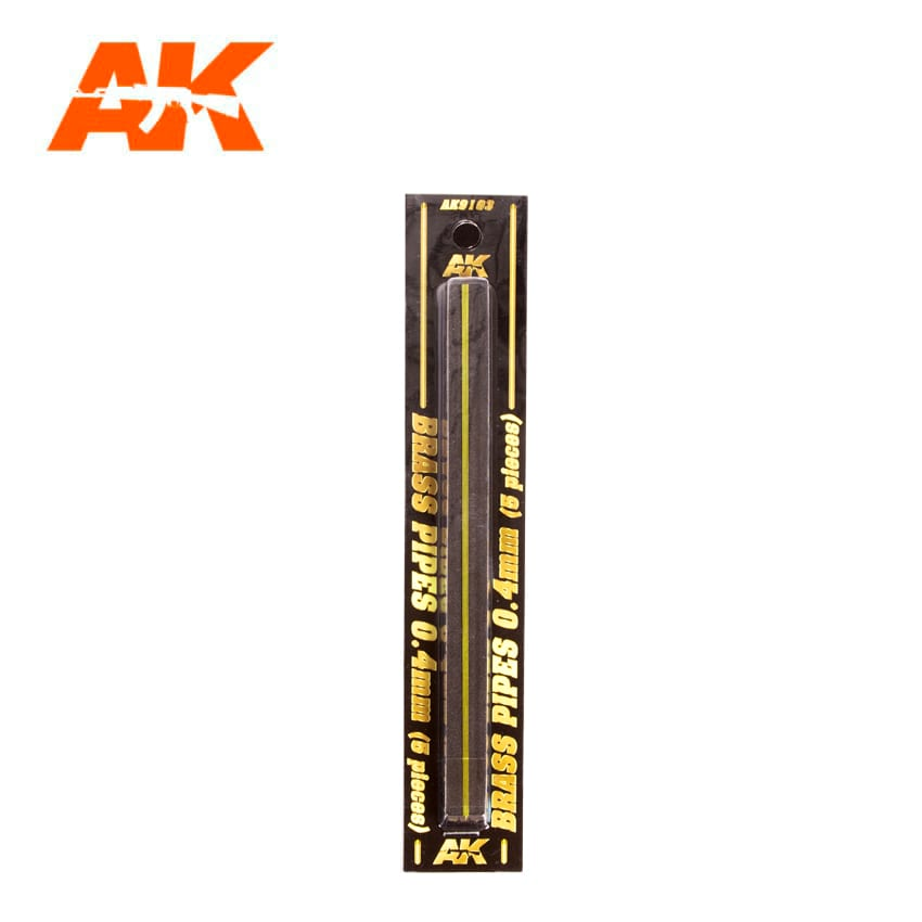AK Interactive BRASS PIPES 0.4mm, 5 units