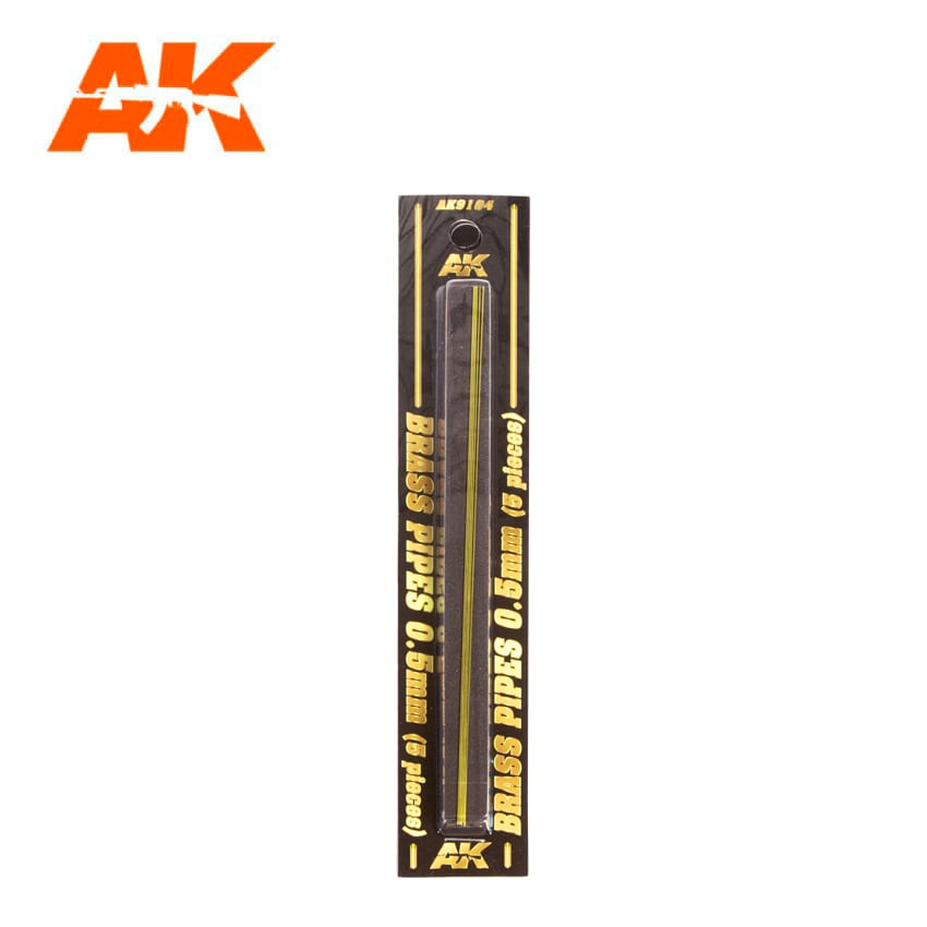 AK Interactive BRASS PIPES 0.5mm, 5 units