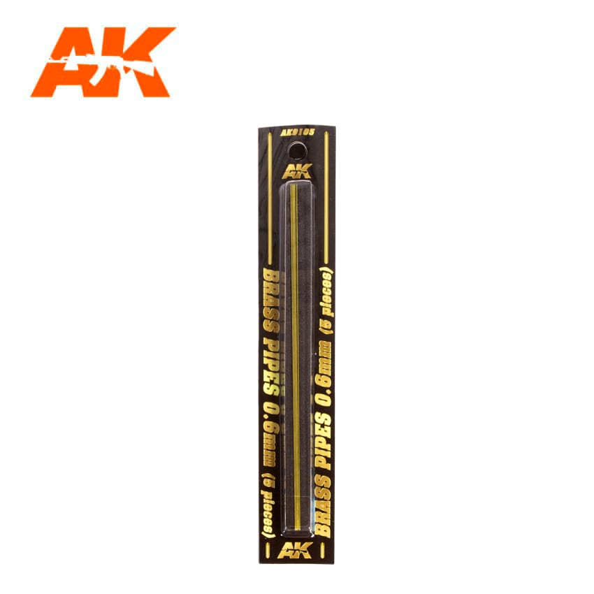 AK Interactive BRASS PIPES 0.6mm, 5 units