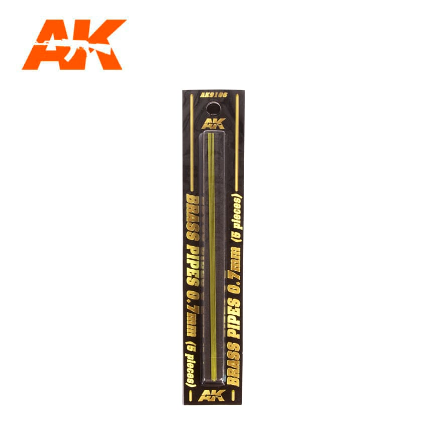 AK Interactive BRASS PIPES 0.7mm, 5 units