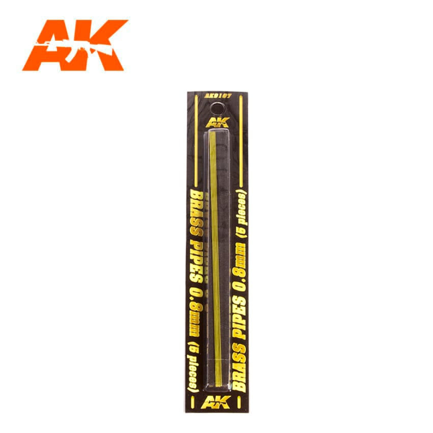 AK Interactive BRASS PIPES 0.8mm, 5 units