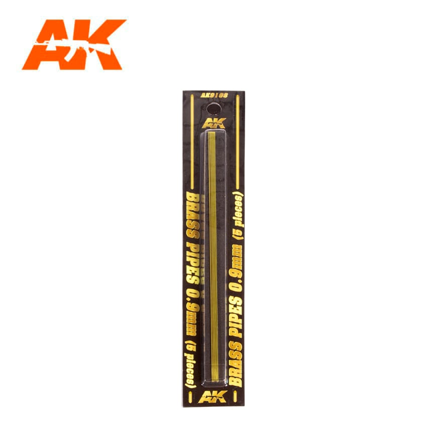 AK Interactive BRASS PIPES 0.9mm, 5 units