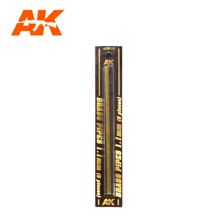 AK Interactive BRASS PIPES 1.1mm, 5 units