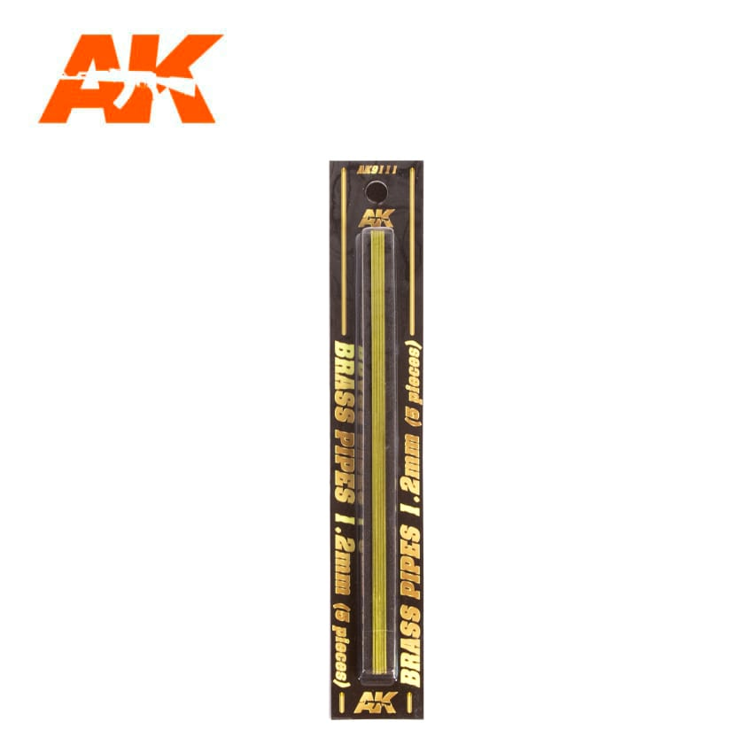 AK Interactive BRASS PIPES 1.2mm, 5 units