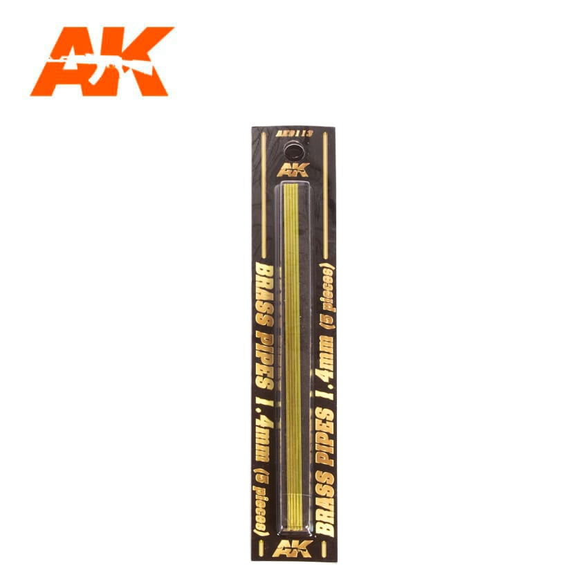 AK Interactive BRASS PIPES 1.4mm, 5 units
