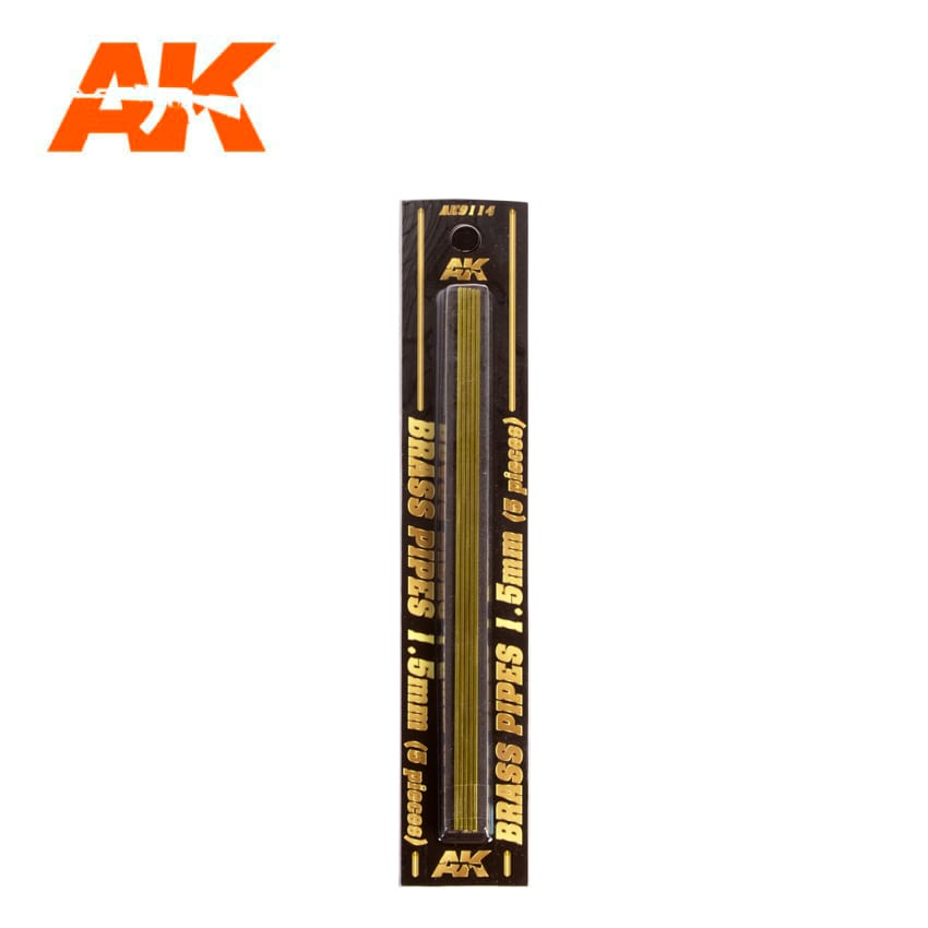 AK Interactive BRASS PIPES 1.5mm, 5 units