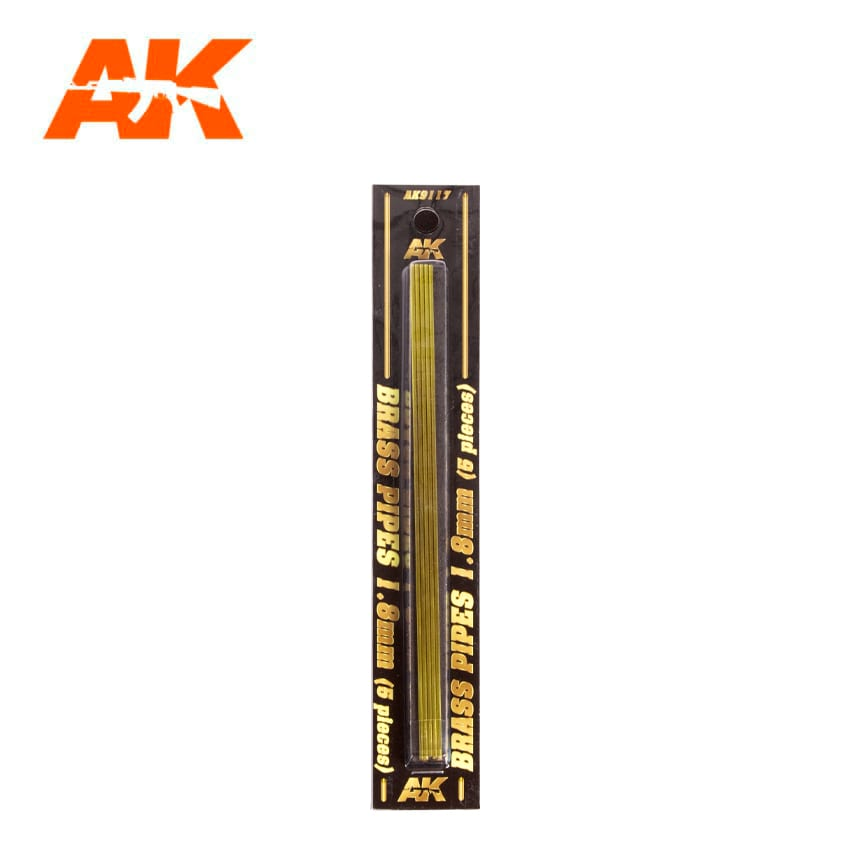 AK Interactive BRASS PIPES 1.8mm, 5 units