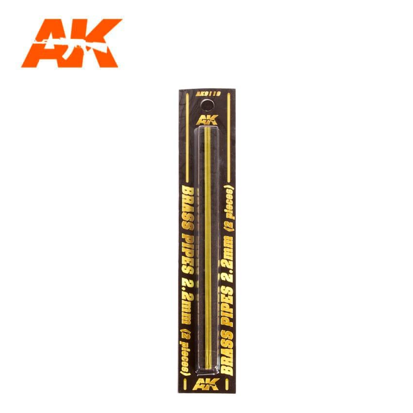AK Interactive BRASS PIPES 2.2mm, 2 units