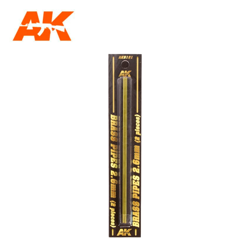 AK Interactive BRASS PIPES 2.6mm, 2 units