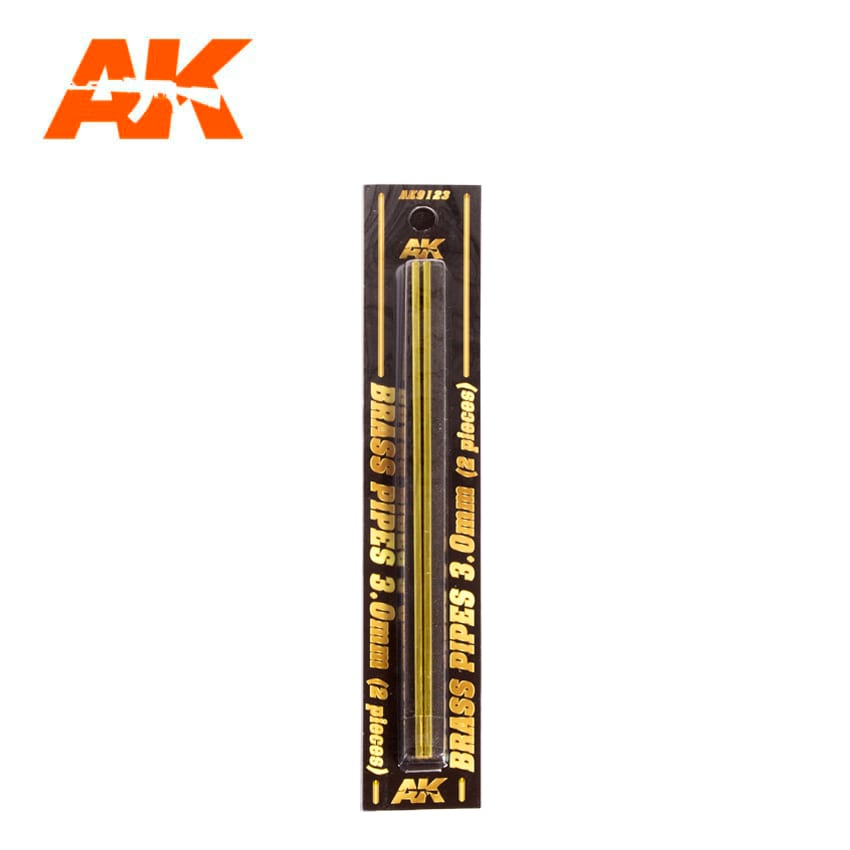 AK Interactive BRASS PIPES 3.0mm, 2 units