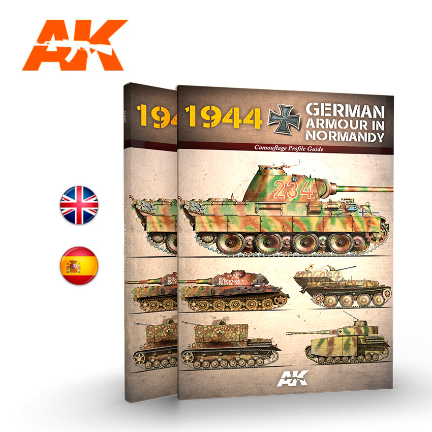 AK Interactive 1944 German Armour In Normandy Camouflage Profile Guide - English