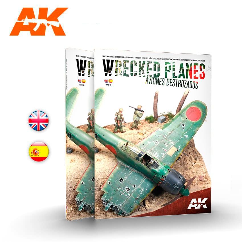 AK Interactive Wrecked Planes - Aviones Destrozados, Bilingual