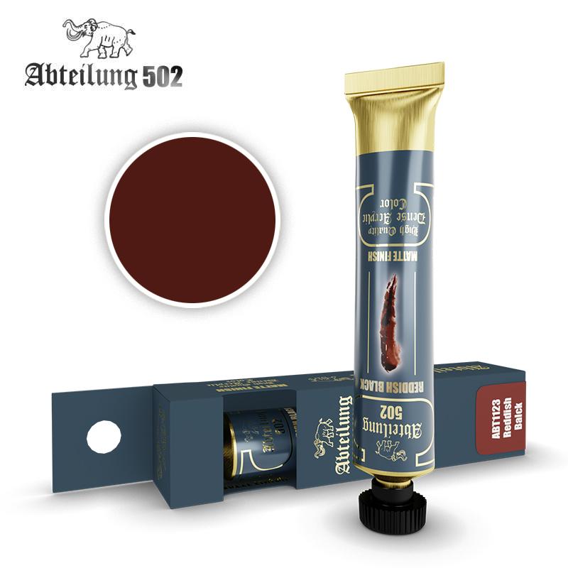 Abteilung 502 High Quality Dense Acrylic, Reddish Black