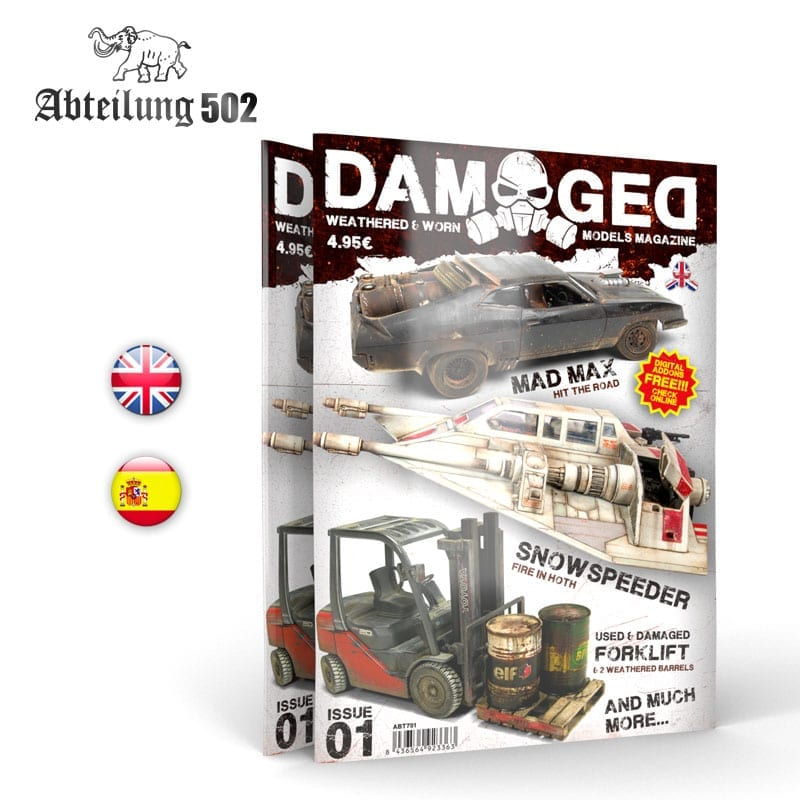 Abteilung502 DAMAGED, Worn and Weathered Models Magazine - 01 (English)