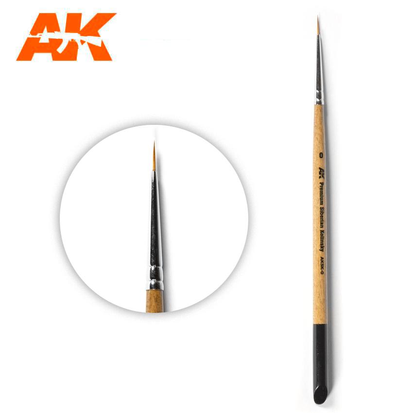 AK Interactive Premium Siberian Kolinsky Brush 0