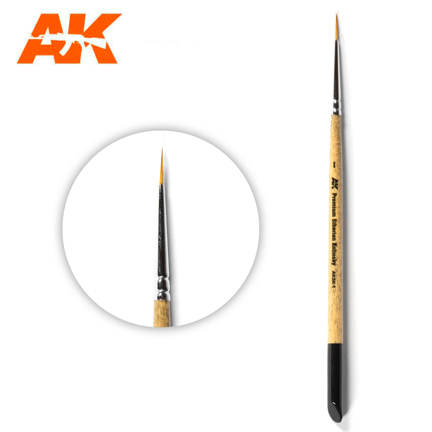 AK Interactive Premium Siberian Kolinsky Brush 1