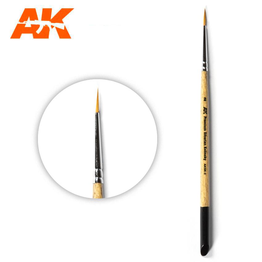AK Interactive Premium Siberian Kolinsky Brush 2