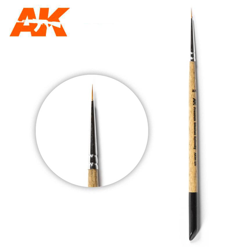 AK Interactive Premium Siberian Kolinsky Brush 2/0