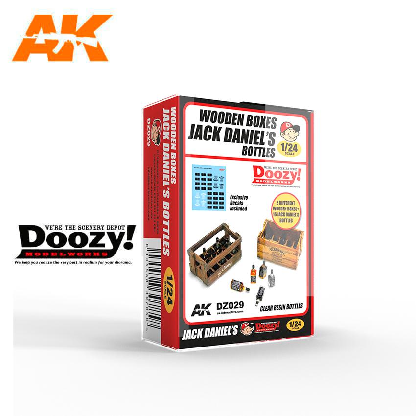 AK Interactive Wooden Boxes Jack Daniel's Bottles
