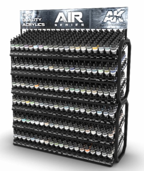 AK Interactive Acrylic Aircraft Paints Display Rack (120 Colors x 3 units)