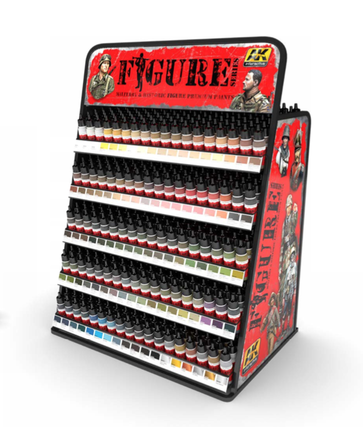 AK Interactive Acrylic Figure Paints Display Rack (90 Colors x 3 units)