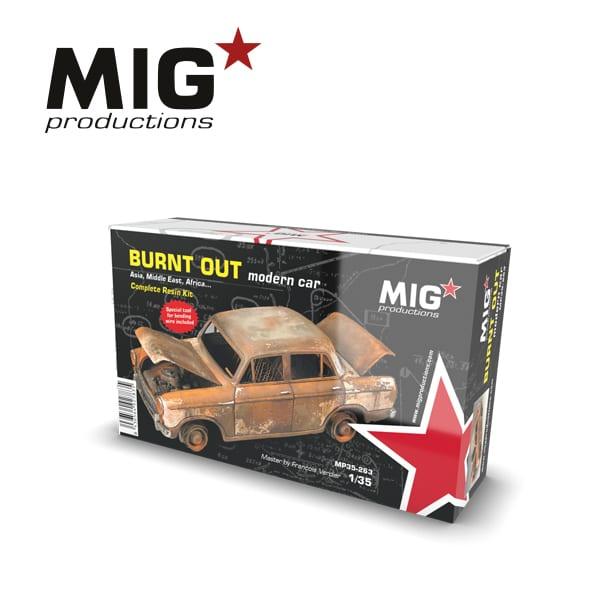 MIG 1/35 Burnt Out Modern Car