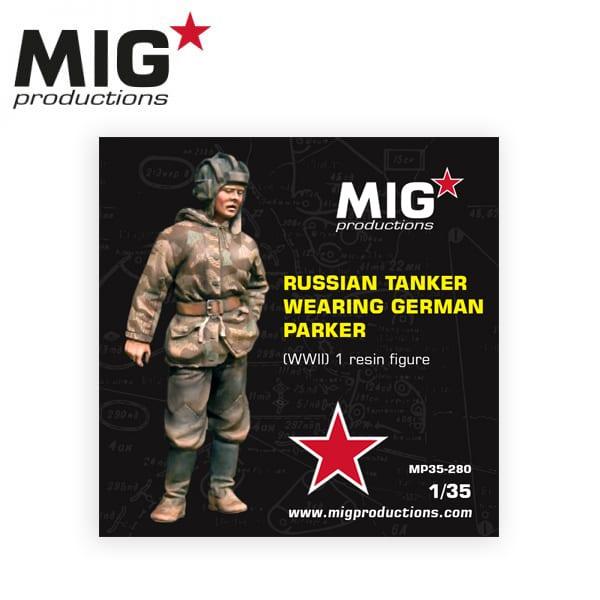 MIG Russian Tanker Wearing German Parker (WWII)