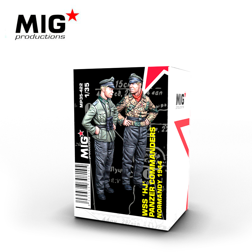 MIG 1/35 WSS HJ Panzer Commanders, Normandy 1944