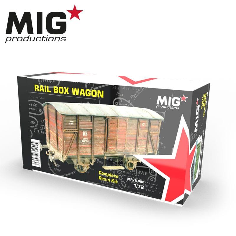 MIG 1/72 Rail Box Wagon Resin Kit
